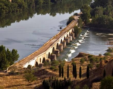 Río Duero y puente románico. Toro (Zamora)