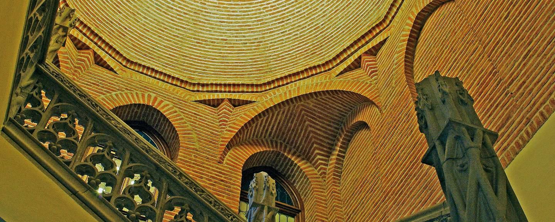 Castillo de la Mota. Cupula de la escalera