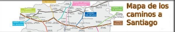 Mapa Caminos de Santiago por Castilla y León 2021
